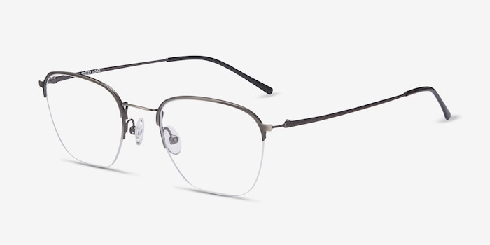 Enya Gunmetal Metal Eyeglass Frames from EyeBuyDirect, Angle View