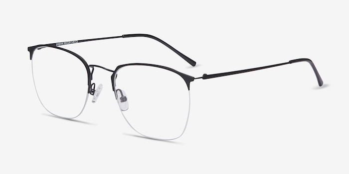 Urban Black Metal Eyeglass Frames from EyeBuyDirect, Angle View