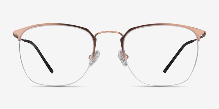 Urban Rose Gold Metal Eyeglass Frames from EyeBuyDirect, Front View