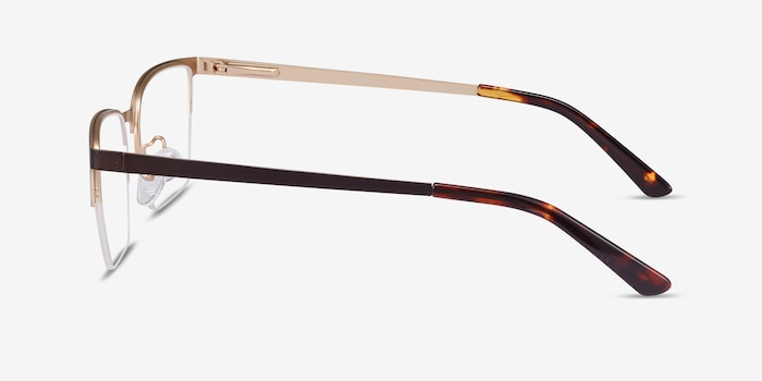Brink Brown Metal Eyeglass Frames from EyeBuyDirect, Side View