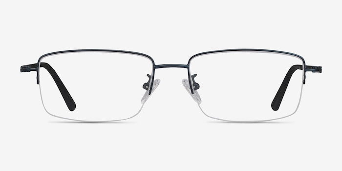 Studio Navy Metal Eyeglass Frames from EyeBuyDirect, Front View