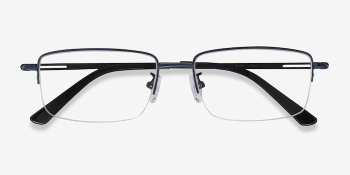 Studio Navy Metal Eyeglass Frames from EyeBuyDirect, Closed View