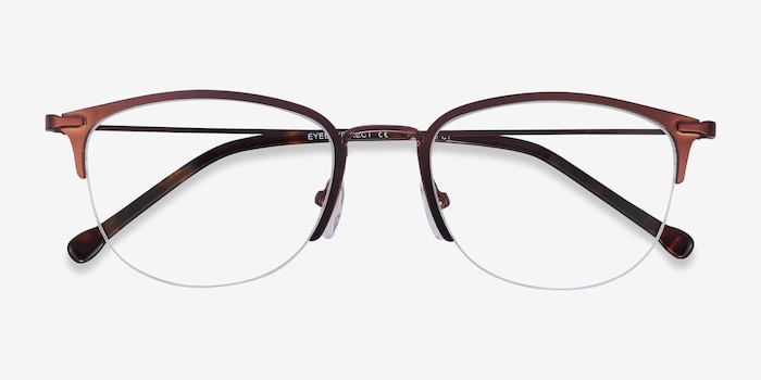 Elise Brown Metal Eyeglass Frames from EyeBuyDirect, Closed View