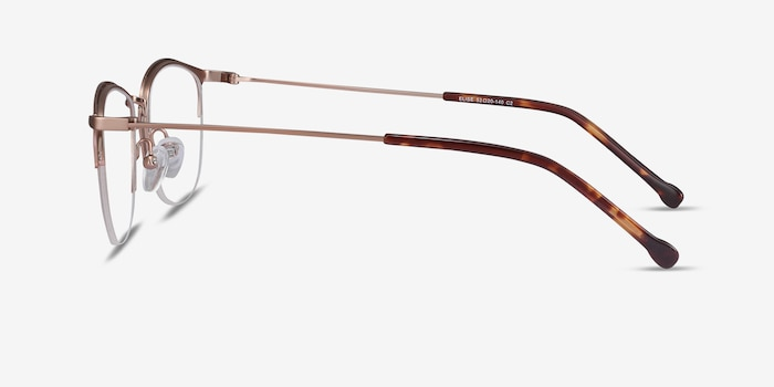 Elise Rose Gold Metal Eyeglass Frames from EyeBuyDirect, Side View