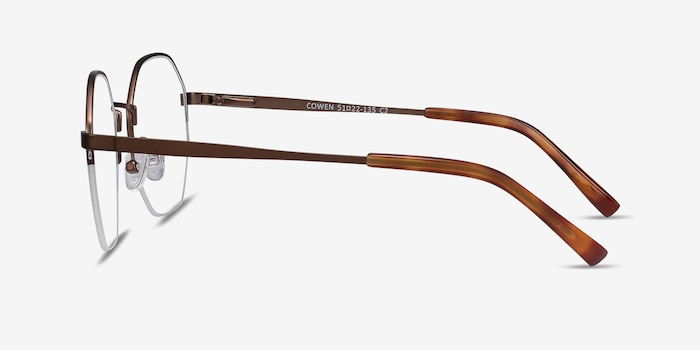 Cowen Bronze Metal Eyeglass Frames from EyeBuyDirect, Side View