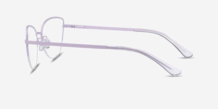 Star Lavender Metal Eyeglass Frames from EyeBuyDirect, Side View