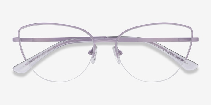 Star Lavender Metal Eyeglass Frames from EyeBuyDirect, Closed View