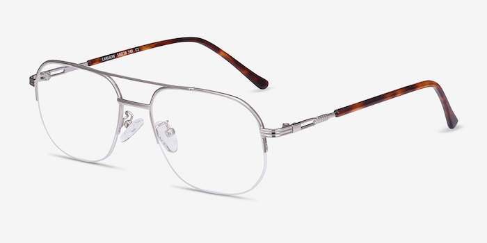Carlson Silver Acetate-metal Eyeglass Frames from EyeBuyDirect, Angle View