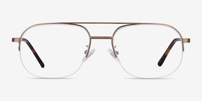 Carlson Bronze Acetate-metal Eyeglass Frames from EyeBuyDirect, Front View