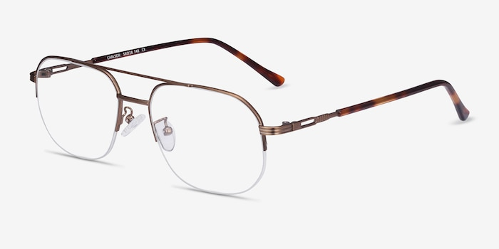 Carlson Bronze Acetate Eyeglass Frames from EyeBuyDirect, Angle View