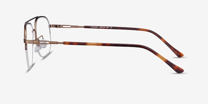 Carlson Bronze Acetate-metal Eyeglass Frames from EyeBuyDirect, Side View