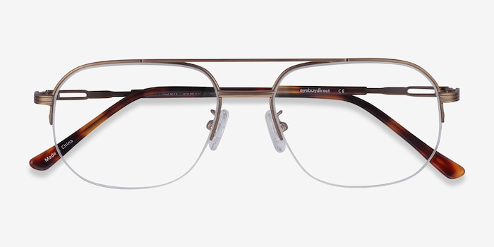 Carlson Bronze Acetate-metal Eyeglass Frames from EyeBuyDirect, Closed View