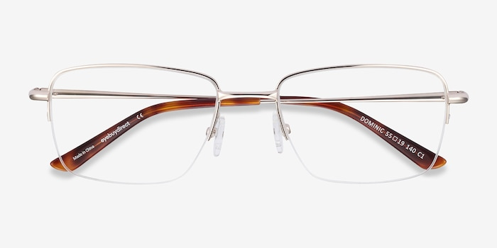 Dominic Gold Metal Eyeglass Frames from EyeBuyDirect, Closed View