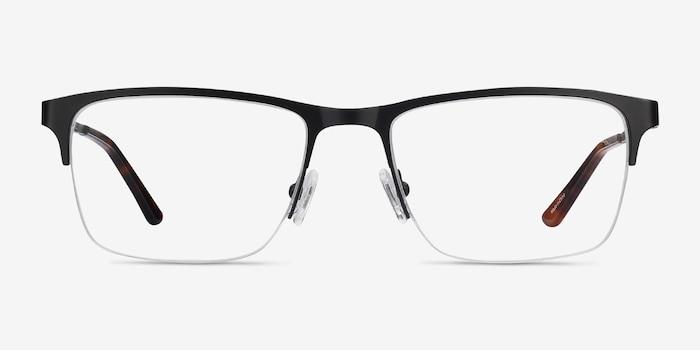 Jasper Black Metal Eyeglass Frames from EyeBuyDirect, Front View