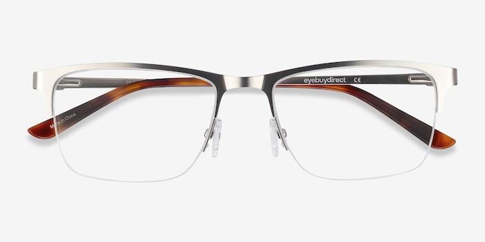 Jasper Silver Metal Eyeglass Frames from EyeBuyDirect, Closed View