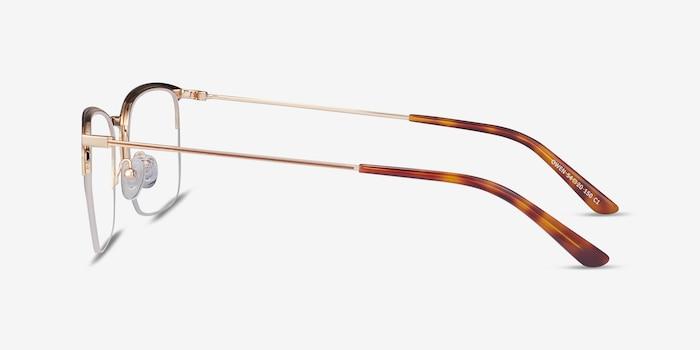Owen Coffee Metal Eyeglass Frames from EyeBuyDirect, Side View