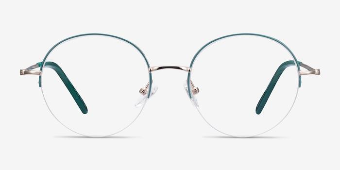 Takashi Green & Gold Métal Montures de Lunette de vue d'EyeBuyDirect, Vue de Face