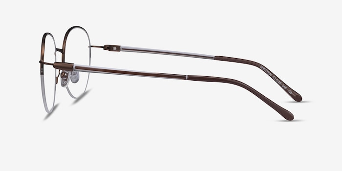 Written Bronze Metal Eyeglass Frames from EyeBuyDirect, Side View
