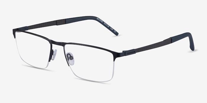Belong Black Red Carbon-fiber Eyeglass Frames from EyeBuyDirect, Angle View