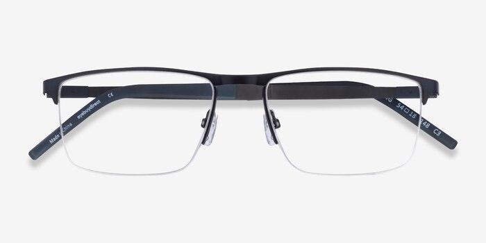 Belong Black Red Carbon-fiber Eyeglass Frames from EyeBuyDirect, Closed View
