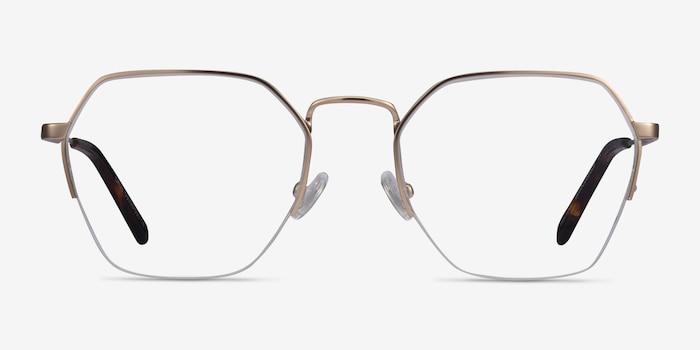 Cruz Rose Gold Metal Eyeglass Frames from EyeBuyDirect, Front View