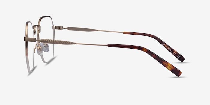 Cruz Rose Gold Metal Eyeglass Frames from EyeBuyDirect, Side View