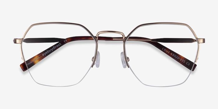 Cruz Rose Gold Metal Eyeglass Frames from EyeBuyDirect, Closed View