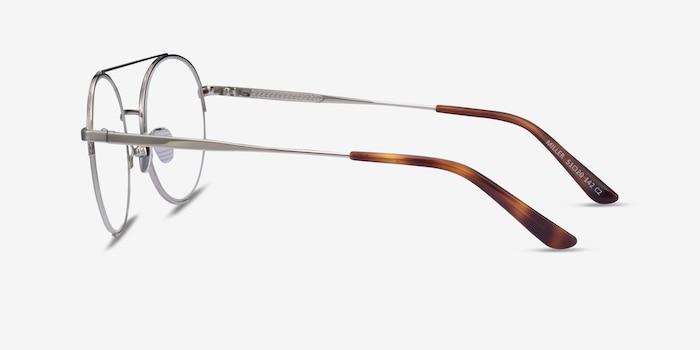 Miller Silver Metal Eyeglass Frames from EyeBuyDirect, Side View