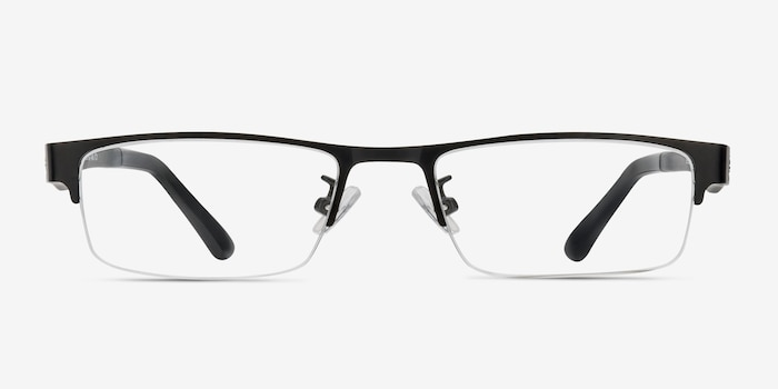 Beau Black Plastic-metal Eyeglass Frames from EyeBuyDirect, Front View
