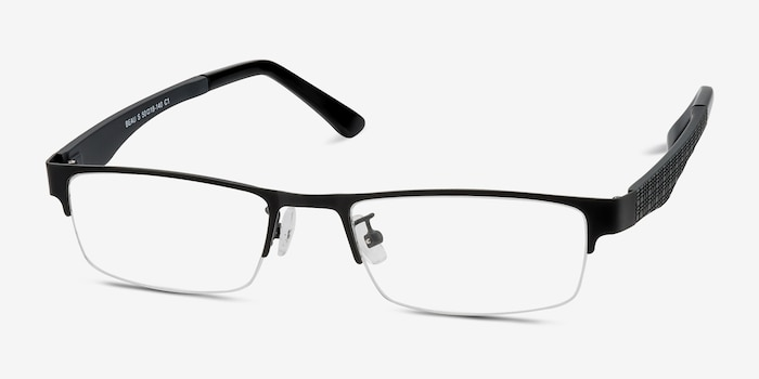 Beau Black Plastic-metal Eyeglass Frames from EyeBuyDirect, Angle View