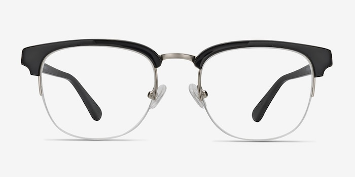 Genbu  Black  Acetate Eyeglass Frames from EyeBuyDirect, Front View
