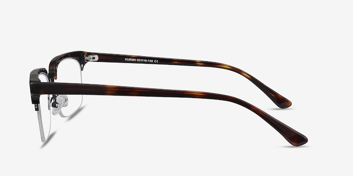 Kurma Tortoise Metal Eyeglass Frames from EyeBuyDirect, Side View