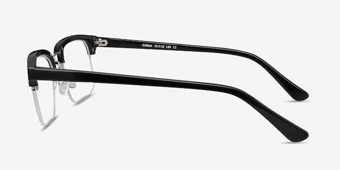 Kurma Black Metal Eyeglass Frames from EyeBuyDirect, Side View