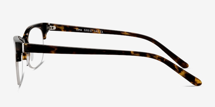 Luna Tortoise Acetate Eyeglass Frames from EyeBuyDirect, Side View