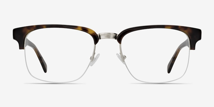 Phonic Tortoise Metal Eyeglass Frames from EyeBuyDirect, Front View