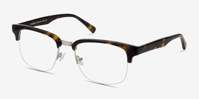 Phonic Tortoise Acetate-metal Eyeglass Frames from EyeBuyDirect, Angle View