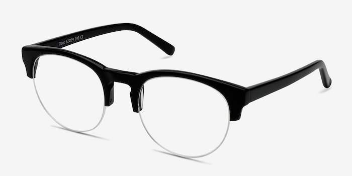 Zoot Black Acetate Eyeglass Frames from EyeBuyDirect, Angle View