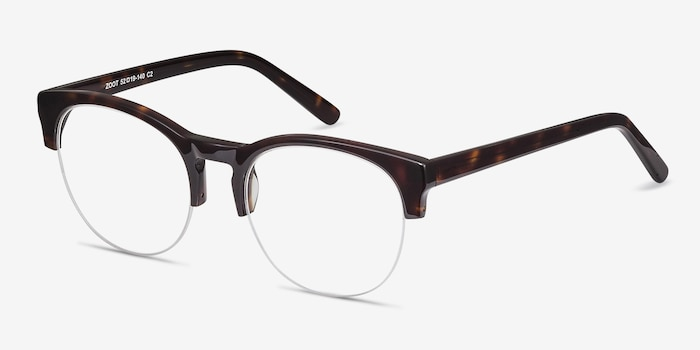 Zoot Tortoise Acetate Eyeglass Frames from EyeBuyDirect, Angle View