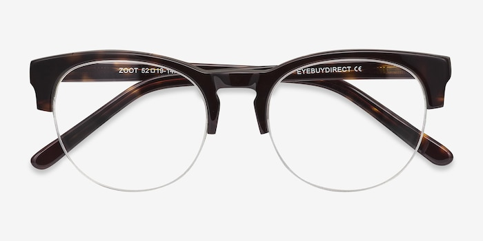 Zoot Tortoise Acetate Eyeglass Frames from EyeBuyDirect, Closed View