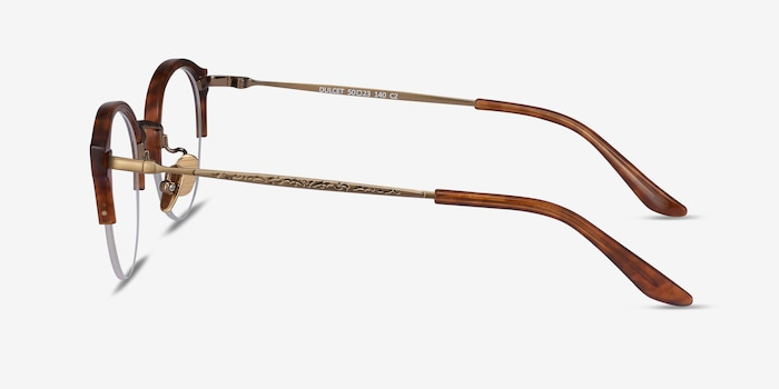 Dulcet Brown Acetate Eyeglass Frames from EyeBuyDirect, Side View