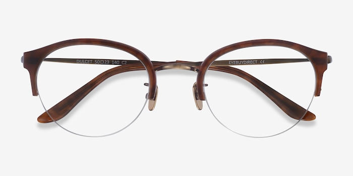 Dulcet Brown Acetate Eyeglass Frames from EyeBuyDirect, Closed View