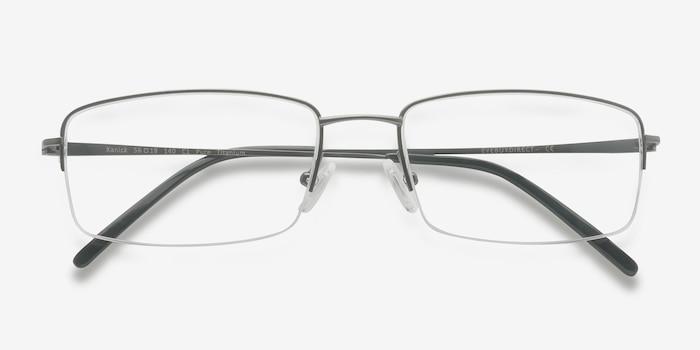 Kanick Gunmetal Titane Montures de Lunettes d'EyeBuyDirect, Vue Rapprochée