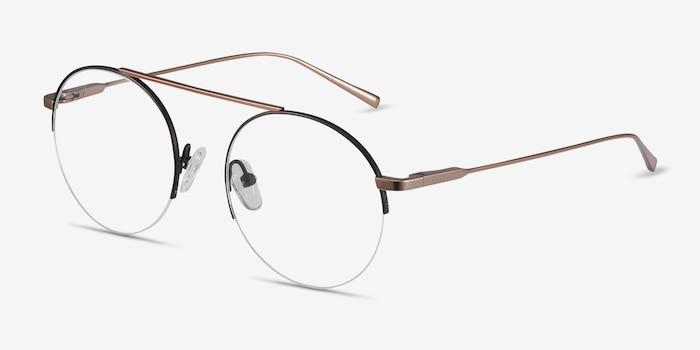 Origin Black Titanium Eyeglass Frames from EyeBuyDirect, Angle View