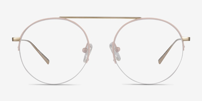 Origin Pink Titanium Eyeglass Frames from EyeBuyDirect, Front View