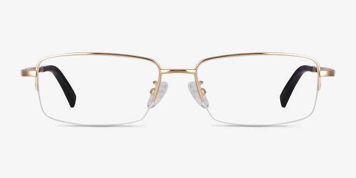 Remington Gold Titanium Eyeglass Frames from EyeBuyDirect, Front View