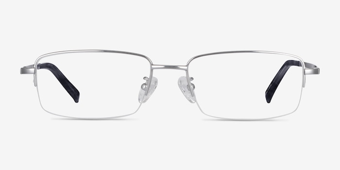 Remington Silver Titanium Eyeglass Frames from EyeBuyDirect, Front View