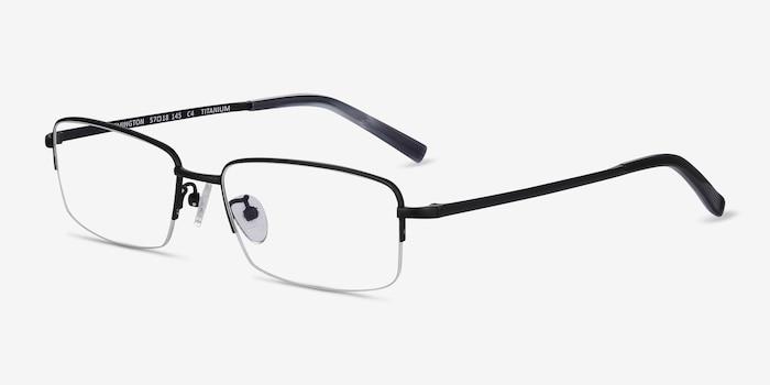 Remington Black Titanium Eyeglass Frames from EyeBuyDirect, Angle View