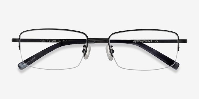 Remington Black Titanium Eyeglass Frames from EyeBuyDirect, Closed View