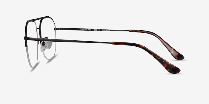 Conrad Black Titanium Eyeglass Frames from EyeBuyDirect, Side View