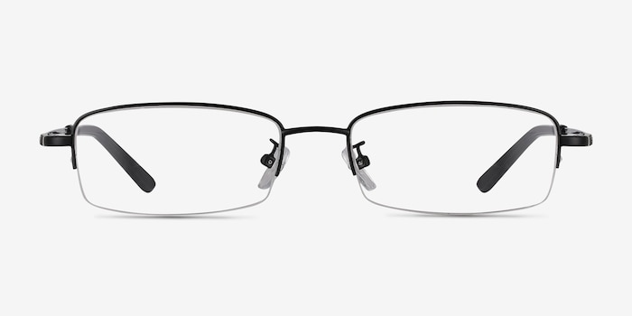 Penticton Black Metal Eyeglass Frames from EyeBuyDirect, Front View